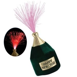 Beistle Light-Up Happy New Year Bottle Head Hat