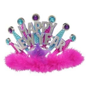Beistle Plastic Light-Up Happy New Year Tiara