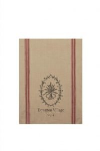 Downton Abbey Downstairs Kitchen Tea Towel wit Wheat