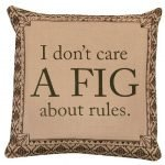 Downton Abbey Life Don't Care a Fig About Rules British Decorative Damask Square Throw Pillow Cover Only