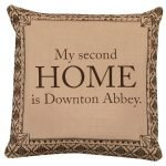 Downton Abbey Life My Second Home British Flair Decorative Damask Square Throw Pillow Cover Only