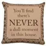 Downton Abbey Life Never a Dull Moment British Decorative Damask Square Throw Pillow Cover Only