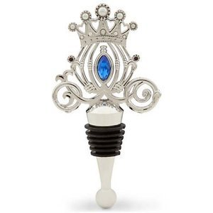 Cinderella Pumpkin Coach Wedding Jeweled Bottle Wine Stopper