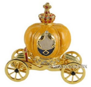Cinderellas Pumpkin Coach Trinket Jewelry Box