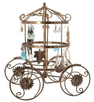 Magical Fairy Tale Cinderella Rotating Carriage Jewelry Stand