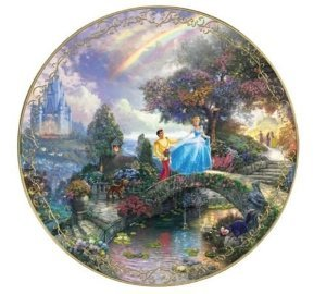 Thomas Kinkade Cinderella Wishes Upon A Dream Bradford Exchange Plate