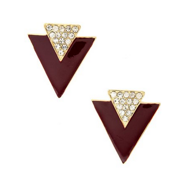 twin triangle earrings