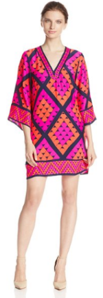 Alice & Trixie Women's Talia Geometric Print Silk Shift Dress