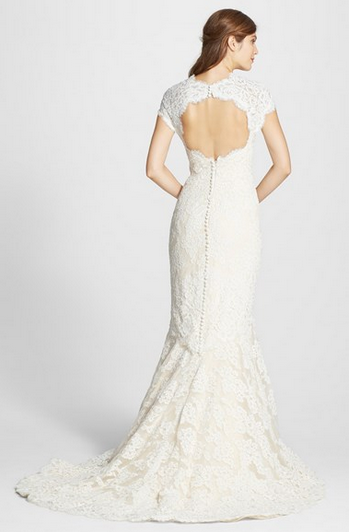 Anne BargeAlençon Lace Mermaid Dress