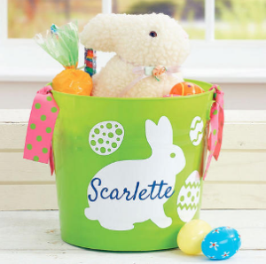 Easter Buckets With Ribbons