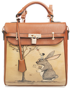 Jolly Chic Rabbit Printed Backpack