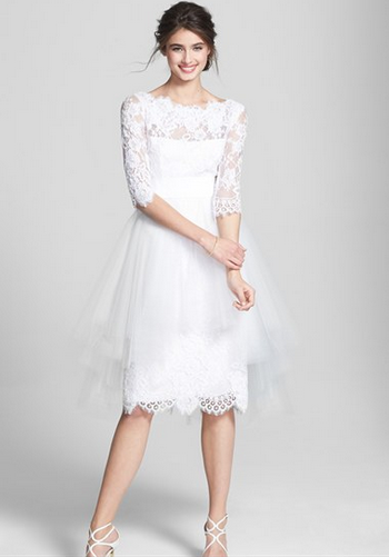 Marchesa Tulle Overskirt Embroidered Lace Dress