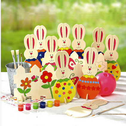 Paint & Play Bunny Bowling Set
