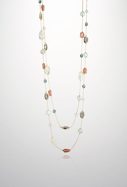 Pastel Layered Rope Necklace