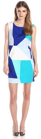 Plenty by Tracy Reese Women's Vien Printed Jacquard Sleeveless Dress