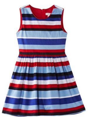 Pumpkin Patch Big Girls' Multi Stripe Skater Dress