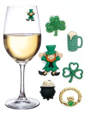St. Patricks Day Magnetic Wine Charms & Markers