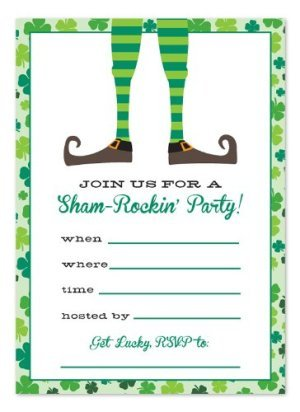 St. Patrick's Day Party Fill-in Invitations
