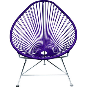 The Baby Acapulco Side Chair in Purple