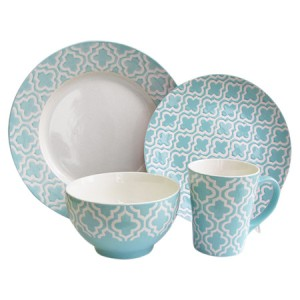 16-Piece Fairview Dinnerware Set in Teal