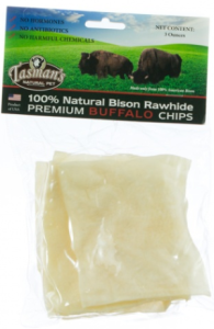 Bison Rawhide Chews Bags of Chips