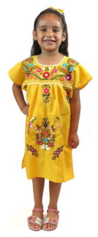 d782cadd89b Leos Mexican Imports Girls Mexican Puebla Dress
