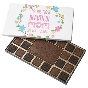 Most Beautiful Mom in the World Pink 45 Piece Assorted Chocolate Box