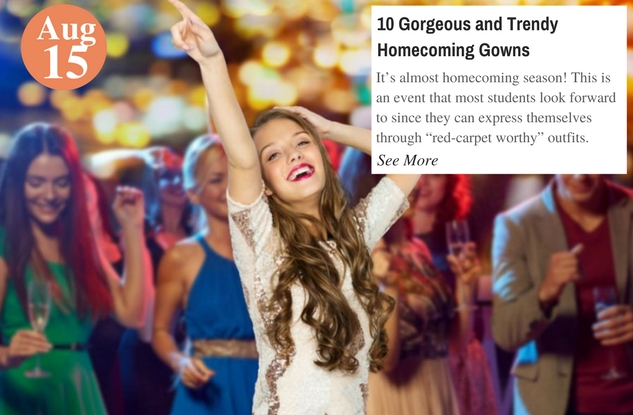 10 Gorgeous and Trendy Homecoming Gowns