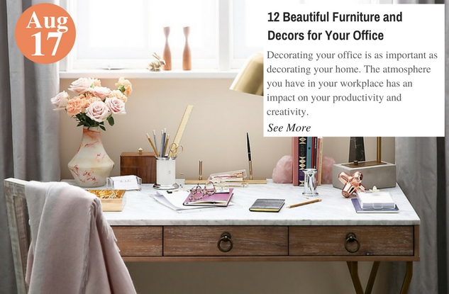 12 Beautiful Furniture and Decors for Your Office