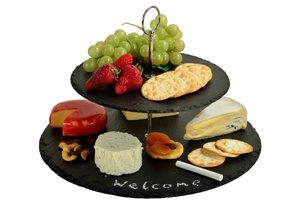 2-Tier Serat Cheese Board, Black
