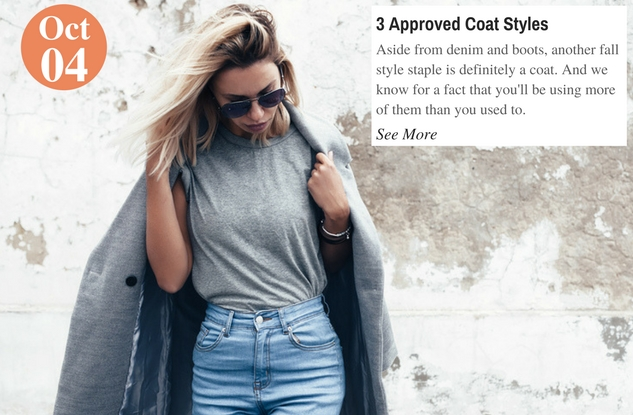 3 Approved Coat Styles