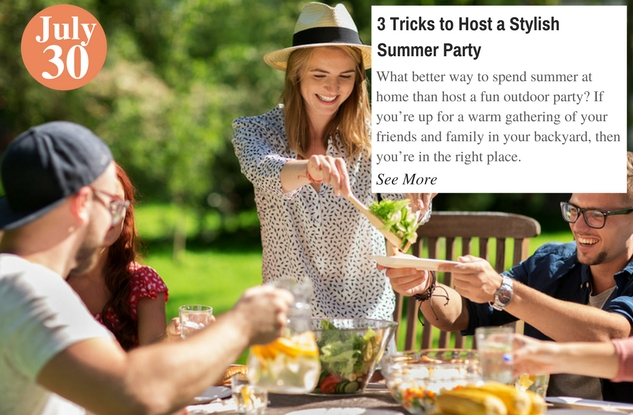 3 Tricks to Host a Stylish Summer Party
