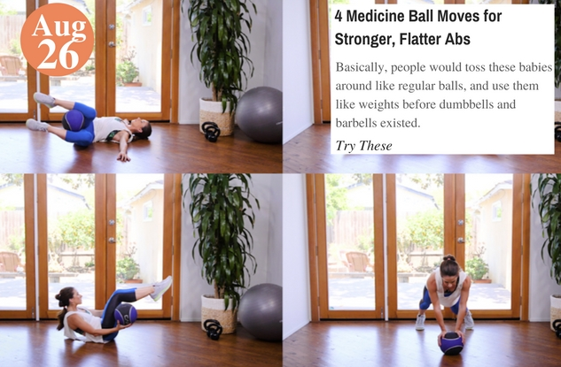 4 Medicine Ball Moves for Stronger, Flatter Abs