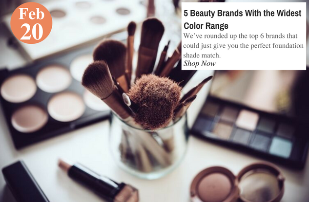 5 Beauty Brands With the Widest Color Range