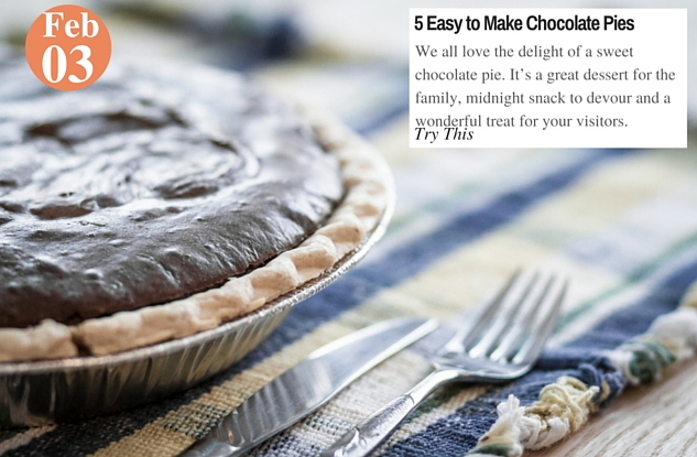 5 Easy to Make Chocolate Pies