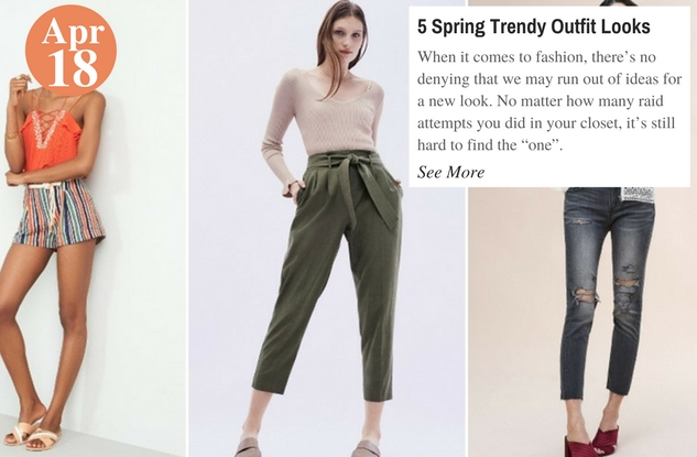 5 Spring Trendy Outfit Looks