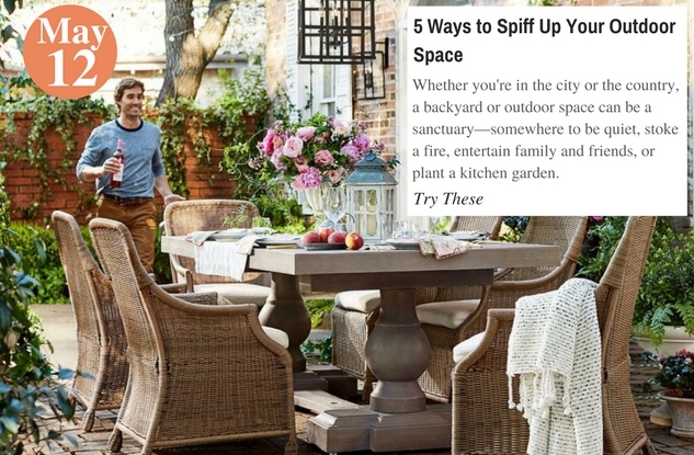 5 Ways to Spiff Up Your Outdoor Space