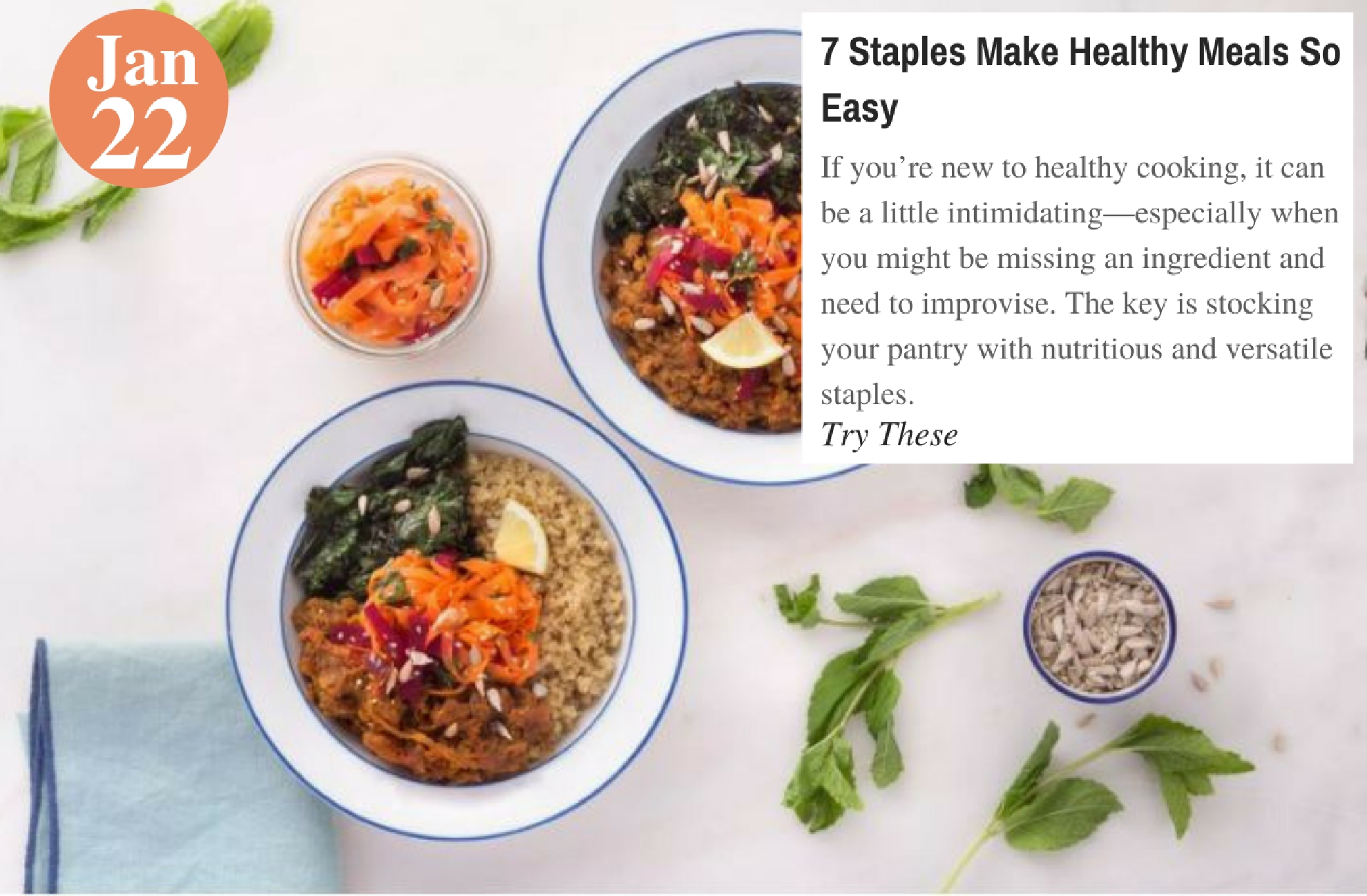 7 Staples Make Healthy Meals So Easy