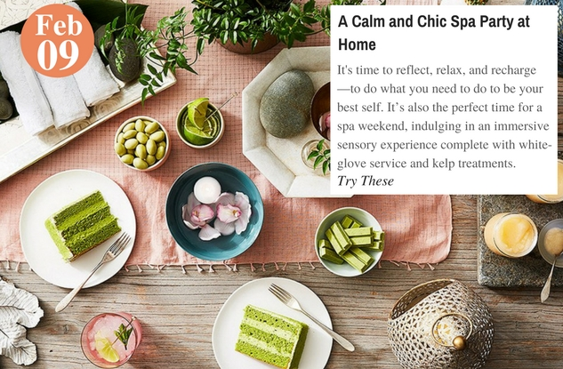 A Calm and Chic Spa Party at Home