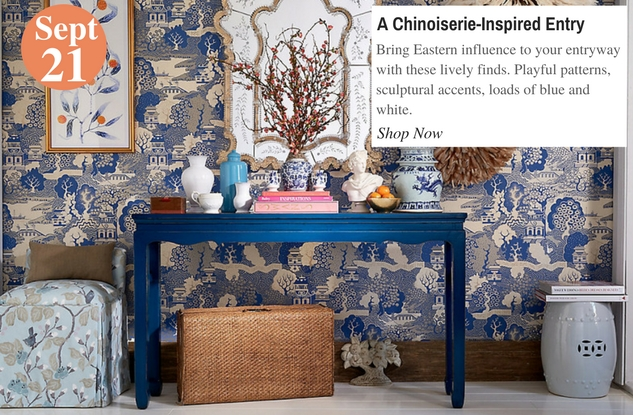A Chinoiserie-Inspired Entry