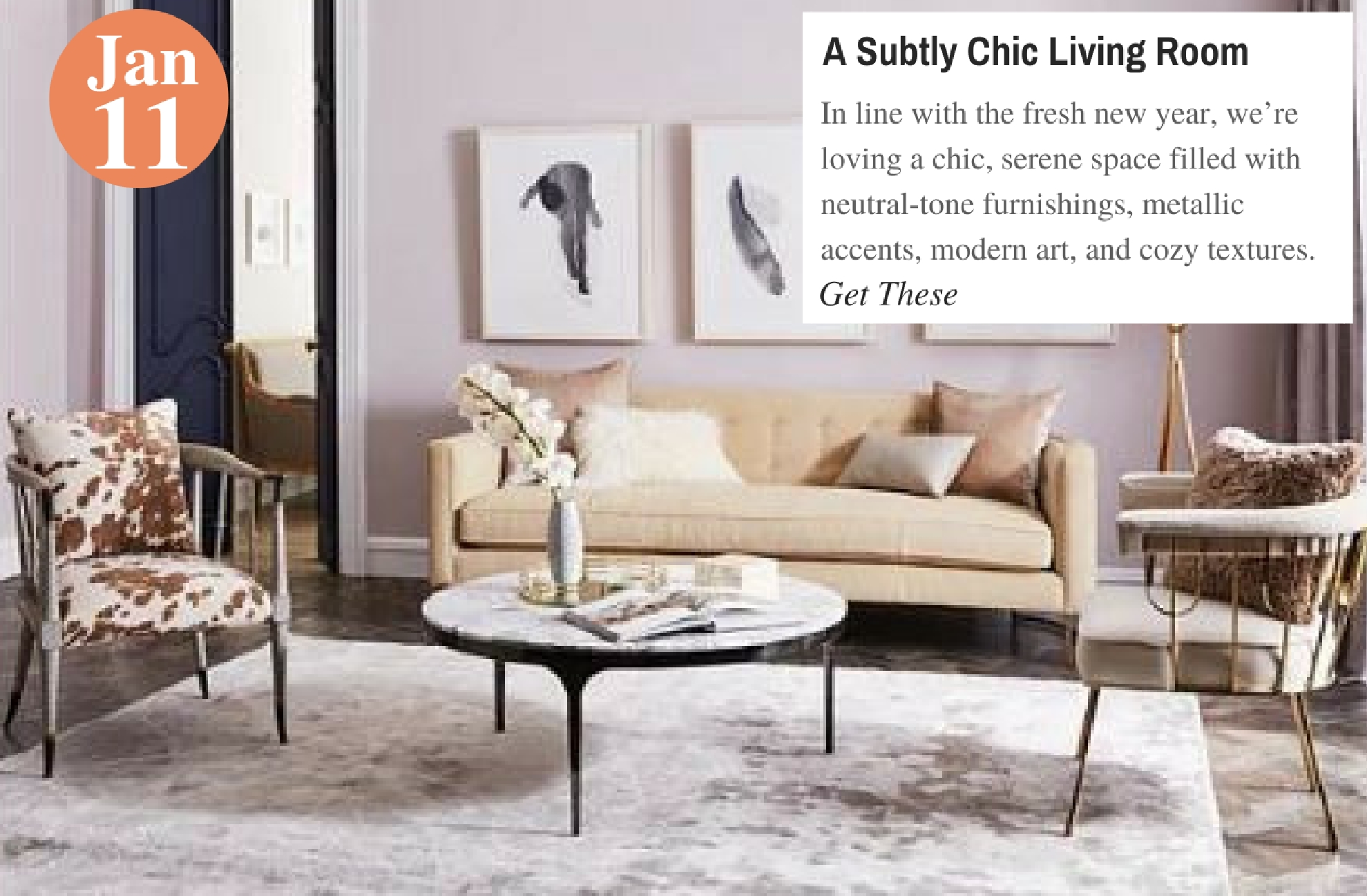 A Subtly Chic Living Room