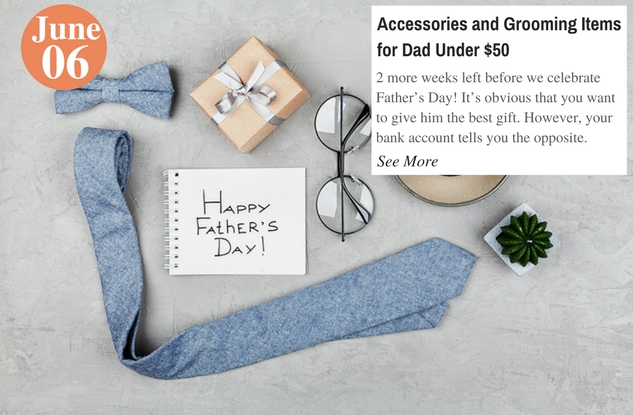 Accessories and Grooming Items for Dad