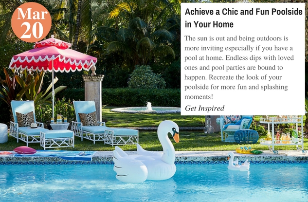 Achieve a Chic and Fun Poolside in Your Home
