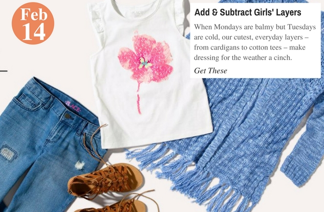 Add & Subtract Girls' Layers