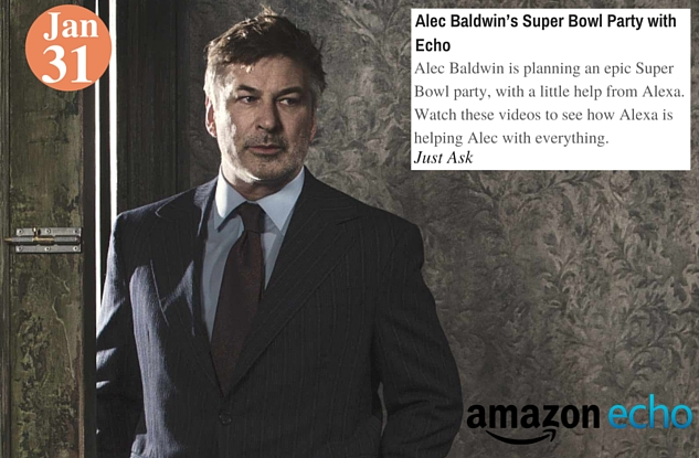 Alec Baldwin's Super Bowl Party with Echo