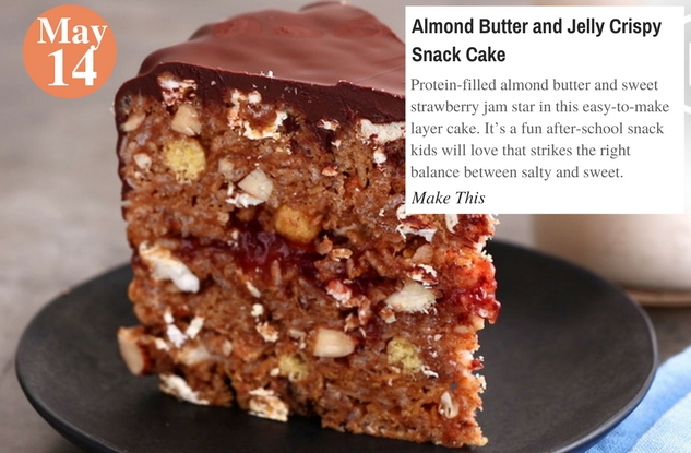 Almond Butter and Jelly Crispy Snack Cake