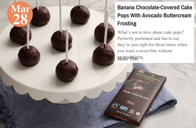 Banana Chocolate-Covered Cake Pops With Avocado Buttercream Frosting