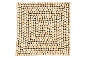 Beaded Wooden Coasters
