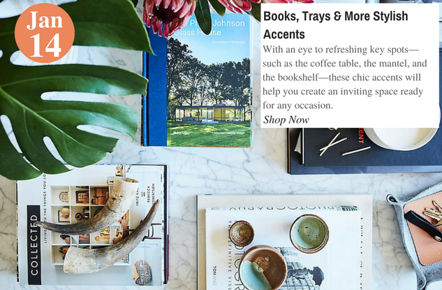 Books, Trays & More Stylish Accents