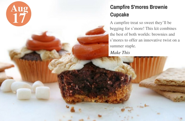 Campfire S'mores Brownie Cupcake